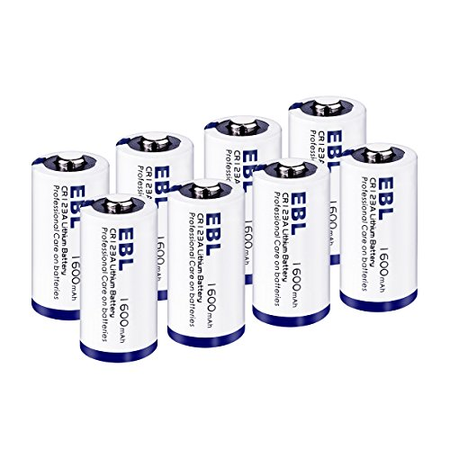 High Battery Performance Lithium - EBL CR123A 3V Lithium Batteries High Performance Non-Rechargeable Battery for Arlo Camera(VMC3030/VMK3200/VMS3330/3430/3530) Flashlight Security System [CAN NOT BE RECHARGED], 8 Pack