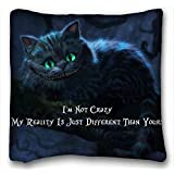 Soft Pillow Case Cover ( Alice in Wonderland Cheshire Cat ) Popular 20x36 inch One Side Pizza Rectangle Pillowcase suitable for X-Long Twin-bed