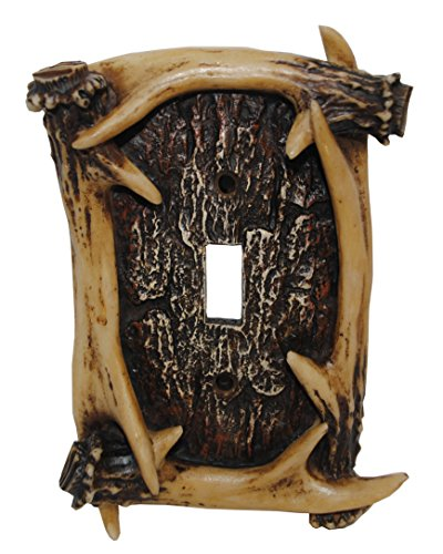(HiEnd Accents Rustic Antler Single Switch)