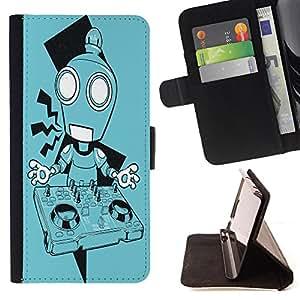 King Case - FOR HTC One M7 - ?I think on thee - Prima caja de la PU billetera de cuero con ranuras para tarjetas, efectivo Compartimiento desmontable y correa para la mu?eca