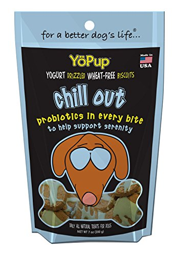 Biscuit Yogurt (Yoghund YoPup Chill Out Wheat Free Biscuits with Yogurt Probiotic Icing for Pets, 7-Ounce)