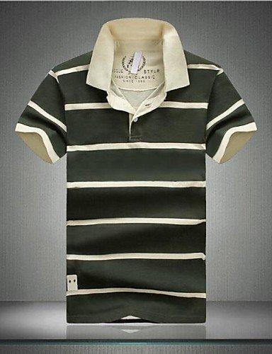 hbj polos (Azul/Verde, algodón) - para el ocio - para Men - Rayas ...