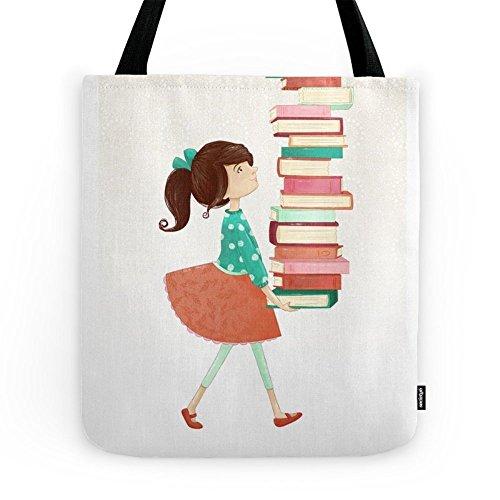 Library Girl Tote Bag