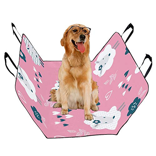 - JTMOVING Fashion Oxford Pet Car Seat Cartoon Painting Colorful Cute Waterproof Nonslip Canine Pet Dog Bed Hammock Convertible for Cars Trucks SUV