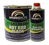 SpeedoKote SMR-207/211 - Hot Rod Black Paint, Black Satin 2K Urethane, SMR-207 4:1 mix Single Stage Gallon kit with activator included