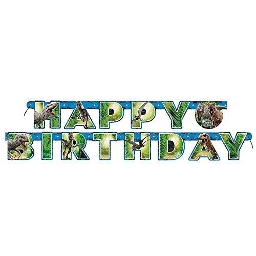 6ft Jurassic World Birthday (Jointed Banner Each Measures)