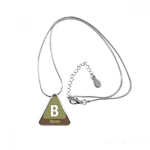 b boron chemical element science triangle shape pendant necklace Beryllium Bohr Model Project b boron chemical element science triangle shape pendant necklace jewelry with chain decoration gift amazon