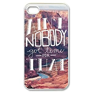 Ain't Nobody Got Time For That Customized Cover Case with Hard Shell Protection for iphone 5 5s Case lxa#916462