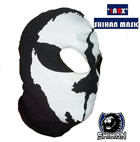 Ninja Skull Mask ('LARX' 2 Hole, Wool Zorro Ninja , Fancy Dress Costume 1 Size Senior,Balaclava Ghost Skull Face Mask Bike Motorcycle Helmet Hood Ski Sport Neck Face Mask Halloween Horror)