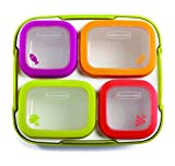 Rubbermaid 1995512 BPA-free, 11 Piece, with Citron Accent Balance Meal Kit, Portion Control Containers, White