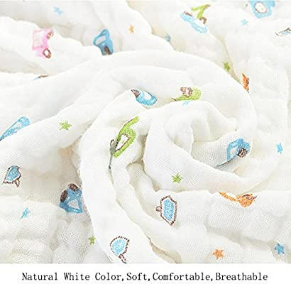 Baby Blanket//Bath Towel 100/% Cotton?Super Soft Gauze 1 Piece Natural Absorbent Muslin 6 Layer Warm 41.3 X 41.3 inch Lemon