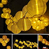 CocoMarket lamp-Solar Fairy Lantern Party Garden Christmas Halloween Lighting Decoration Energy saving lamp(Yellow,one size)