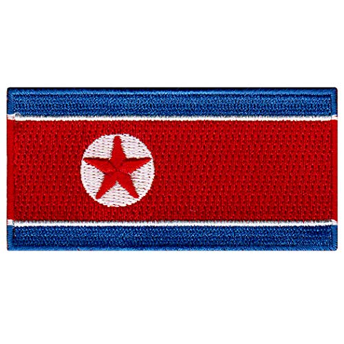 North Korea Flag Embroidered Patch Korean Iron-On National