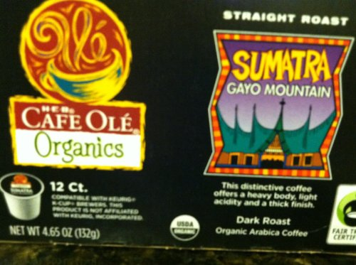 (Cafe Ole Straight Roast Sumatra Gayo Mountain 12 ct. K-cup (Pack of 2))