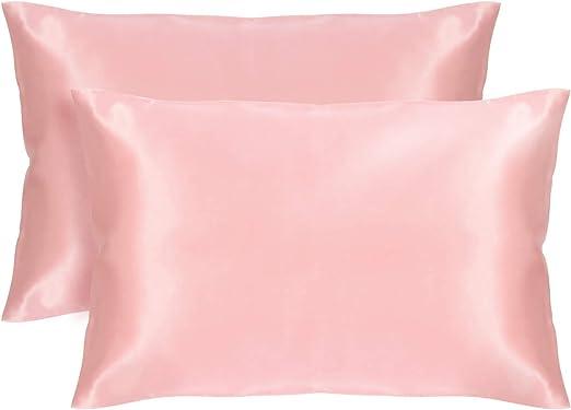 Amazon Com Veeyoo Silky Satin Pillowcase For Hair And Skin Anti