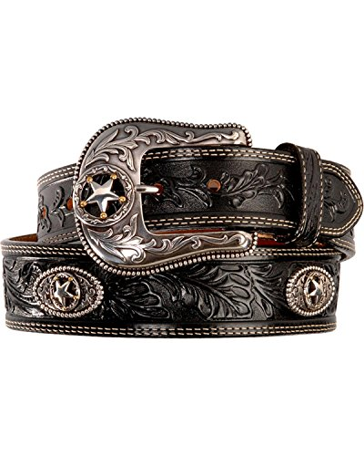 Fancy Concho (Justin Men's Ranch Star Concho Belt Black)