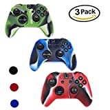 Xbox one Controller Case, YiCutte 3 Pack Combo Silicone Protective Game Controller Case with 4 Thumb Grip Stick Caps for Xbox one (XB-MC)