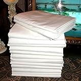 1 Large 66x104 Premium Bright White Massage Table Flat Draw Sheet Linen Soft CRF Finish by Atlas