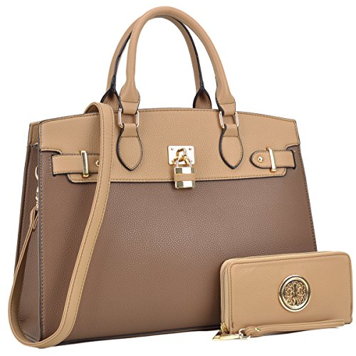 (Fashion Woman Handbag &Wallet Lady Tote Designer Satchel Top Handle Purse Cross-body 6876 KH)