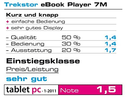 Trekstor eBook Player 7M - Reproductor de ebooks, 7 Pulgadas ...