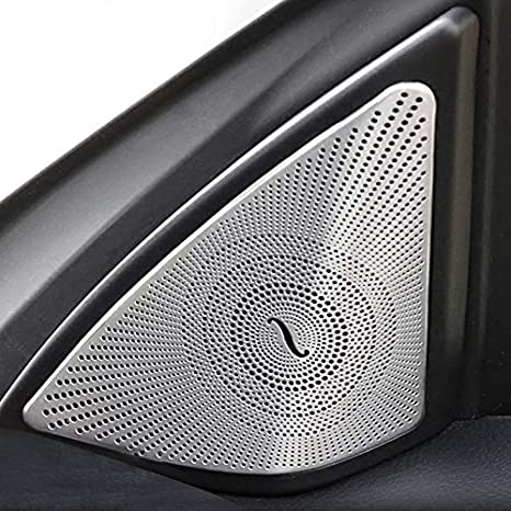 Vaorwne Auto Styling T/ür Audio Lautsprecher Dekorative Streifen Abdeckungen 3D Aufkleber Trim f/ür Mercedes E Klasse Coupe W207 C207 Auto Zubeh?r