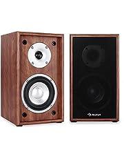 AUNA Line 300-SF-WN 2-Way Passive Bookshelf Speakers Pair 150W Walnut