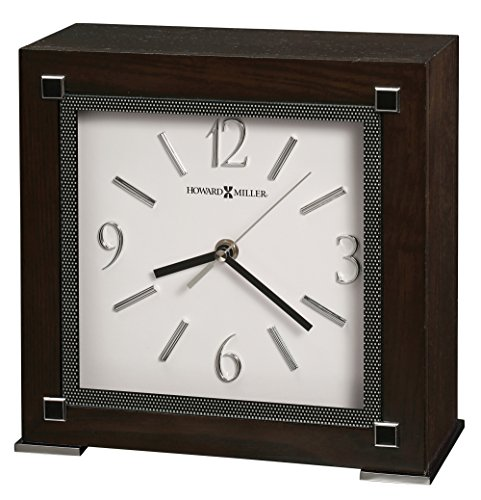 Square Chrome Plated Clock - Howard Miller 635-185 Reese Clock