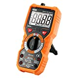 Auto-Ranging Digital Multimeter Dr. Meter PM18 Measuring Instrument AC Voltage Detector Portable Amp/Ohm/Volt Test Meter Multi Tester w/ Diode and Continuity Test Scanner Electronic DIY Hand Tools