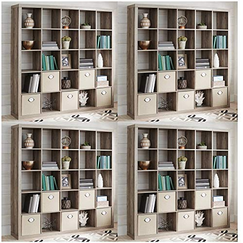 Better Homes and Gardens 8 Cube Storage Organizer Espresso, Free Microfiber -