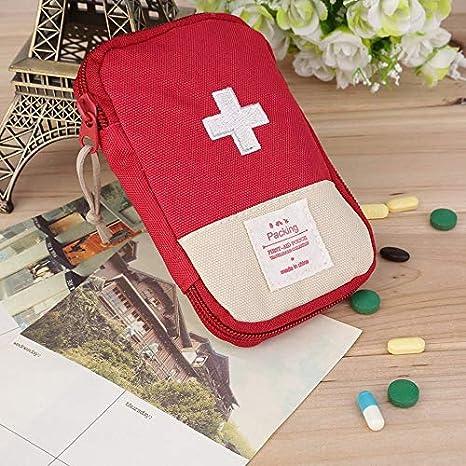 Newgrees Llamativo Kit portátil de Primeros Auxilios de la Cruz Símbolo Acampar al Aire Libre Inicio Supervivencia Bolsa: Amazon.es: Coche y moto