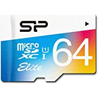 Silicon Power 64GB MicroSDXC UHS-1 Class10, Elite Flash memory Card with Adapter (SP064GBSTXBU1V20AE)
