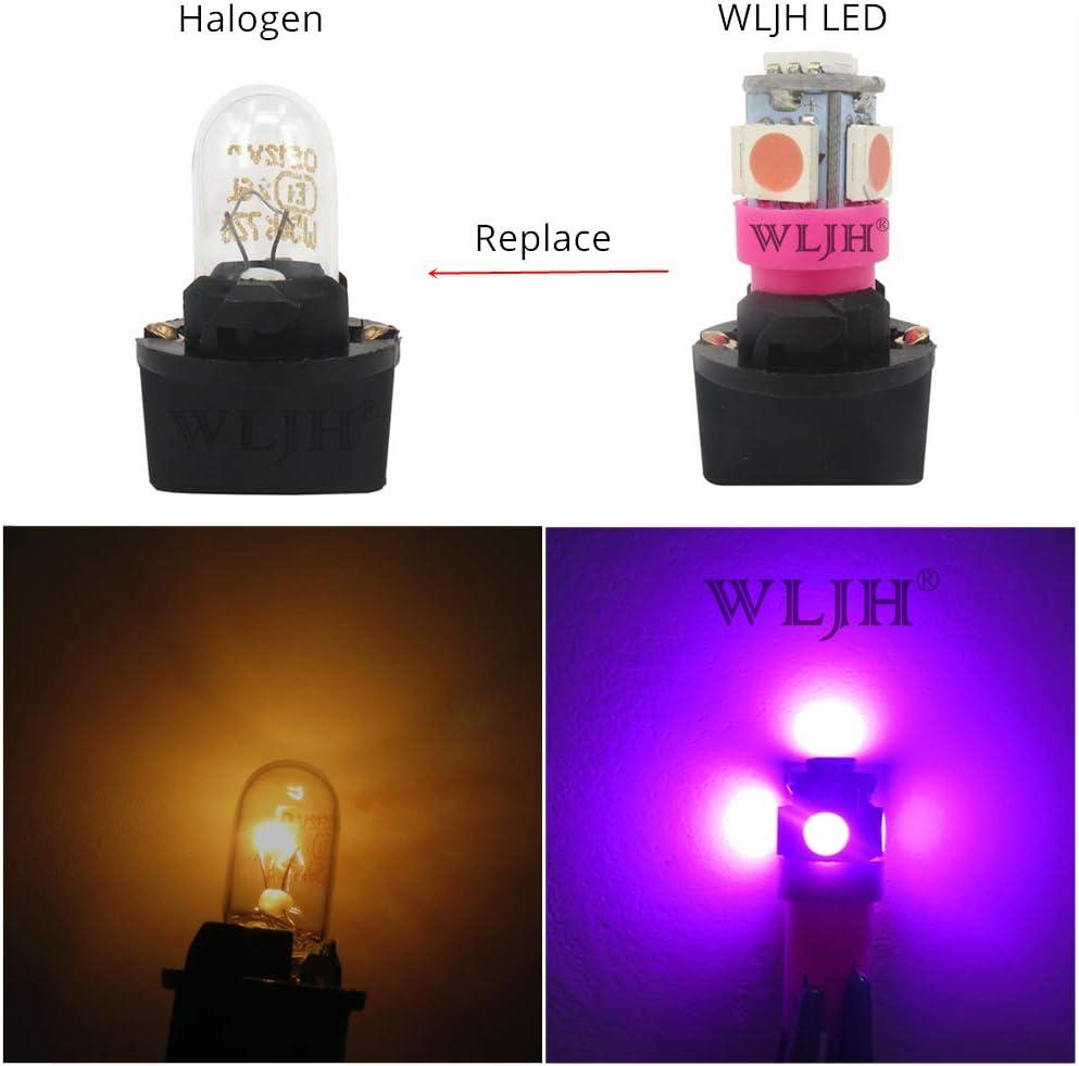 10 lampadine a LED T10 194 da 12 V in miniatura per auto per mappe di cortesia per interni dell/'auto multiuso Wljh pannello di controllo del cruscotto strumenti di cortesia