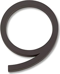 Atlas Homewares AVN9-O Modern Avalon House Number, Nine, Aged Bronze