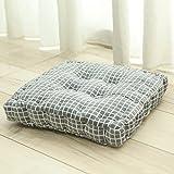 YXDDG Comfortable Square Cotton Chair Cushion Garden Patio Home Chair Cushion 7 Colors, Soft, Suitable for Elderly Children-B 40x40x8cm(16x16x3)