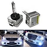 iJDMTOY 6000K Ultra White D1S HID Xenon Headlights Replacement Bulbs