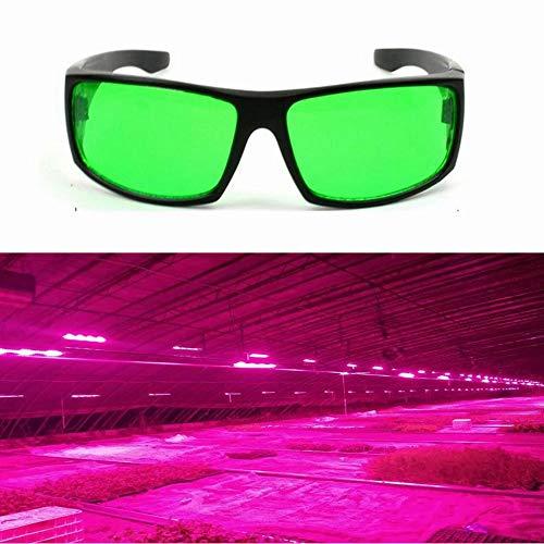 (YPINGLI Eye-Protection Plant LED Goggles Anti-Glare Anti-UV Green Lens Glasses for Greenhouse LED Lights)