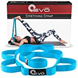Yoga Strap for Stretching - Stretching Strap for Physical Therapy, Pilates and Yoga Routines - eBook, Video Exercises & Carrying Bag Included
