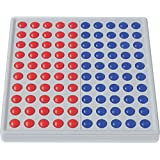 SCHUBI abaco-100 (5/5 Kugeln, rot/blau): Der Zähl- und Rechenrahmen für den Zahlenraum bis 100 mit dem genialen Dreh