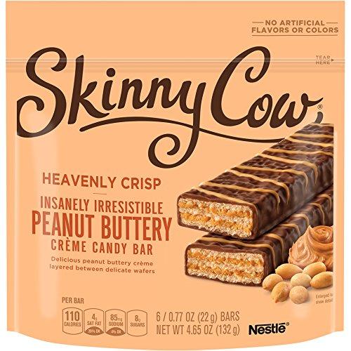 Skinny Cow Heavenly Crisp Peanut Buttery Creme Candy Bar, 4.65 oz