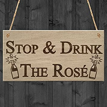 amazon 素朴なquote plaque hanging signs for home decor停止drink