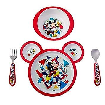 Amazon.com: Mickey Mouse Juego de vajilla de 5 piezas ...