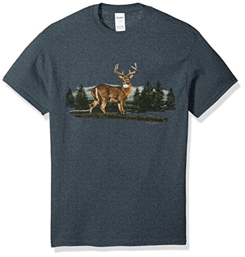 Lost Creek Men's Deer Series Short Sleeve T-Shirt, Dark Heather -