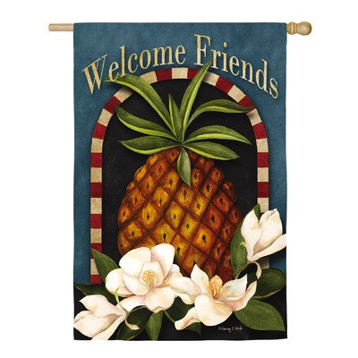 Welcome Friends Pineapple Vertical Flag ()