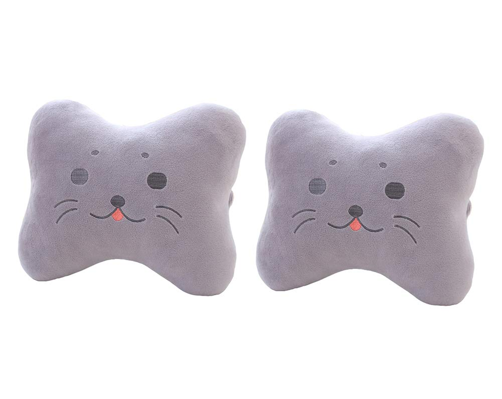 Cute Seal Car Neck Pillows Car Headrest Cushions 2PCS