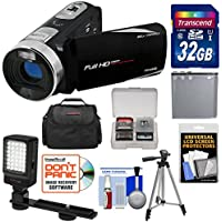 Bell & Howell Fun Flix DV50HD 1080p HD Video Camera Camcorder (Black) with 32GB Card + Battery + Case + Tripod + LED Video Light + Kit