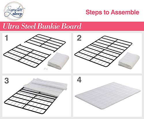 Signature Sleep Ultra Steel Bunkie Board, Premium Metal Frame Design with Cover, White, Twin Size