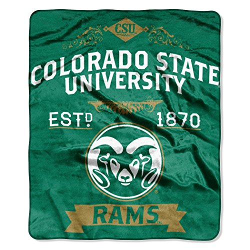 (The Northwest Company Officially Licensed NCAA Colorado State University Label Raschel Throw Blanket, 50