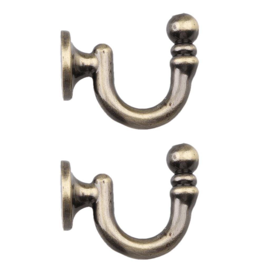 LOVIVER 1 Paar Kleiderhaken Vorhanghalter Wandhaken F/ür Vorh/änge Bronze Mantel