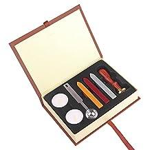 Lemonbest Retro Letter Envelop Wax Seal Stamp Arts Crafts Hogwarts School Badge Wax Sealing Set