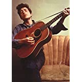 Bob Dylan Young with Guitar Music Poster Print 24 x 33in